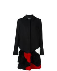 MSGM Fur Embellished Coat