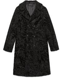 Gucci Lamb Fur Double Breasted Coat