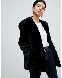 Pimkie Hooded Faux Fur Coat