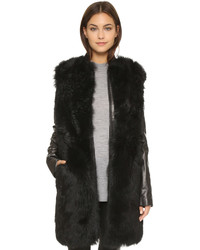 Vince Leather Shearling Coat