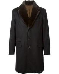 Mink fur collar coat medium 98897