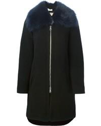 Chloé Removable Fur Collar Coat