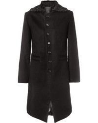 Ann Demeulemeester Slim Fit Brushed Coat