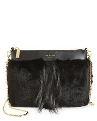 London barbera faux fur crossbody bag black medium 1027083