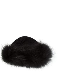 Fur trim hat medium 125944