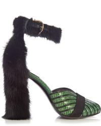 Salvatore Ferragamo Fata Reptile Effect Leather Sandals