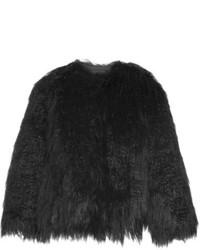 Theory Elstana Faux Shearling Jacket Black