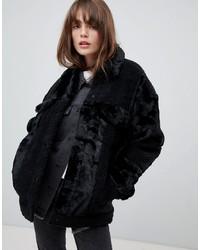 Levi's Faux Fur And Borg Patchwork Jacket