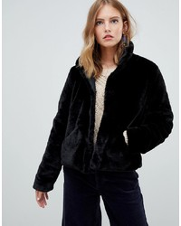 Only Faux Fur Cropped Coat