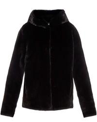 Lilly E Violetta Katie Hooded Mink Fur Jacket