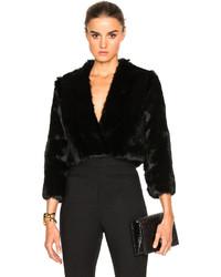 Cushnie et Ochs Solid Rabbit Fur Jacket