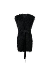 MM6 MAISON MARGIELA Faux Fur Sleeveless Coat