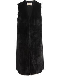 MICHAEL Michael Kors Michl Michl Kors Faux Fur And Wool Blend Vest Black