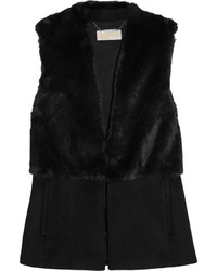 MICHAEL Michael Kors Michl Michl Kors Faux Fur And Felt Vest Black