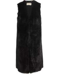 MICHAEL Michael Kors Michl Michl Kors Faux Fur And Wool Blend Vest Black