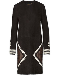Black Geometric Coat