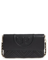 Tory Burch Fleming Geo Convertible Leather Clutch