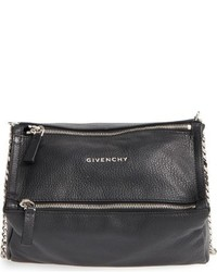 Givenchy Mini Pandora Leather Crossbody Bag Black