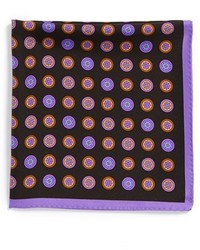 Black Geometric Pocket Square