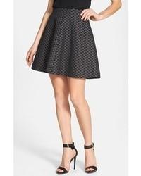 Skater skirt black grey quilted 4 medium 57227