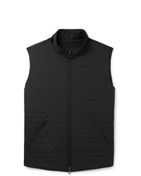 Loro Piana Reversible Quilted Storm System Shell And Virgin Wool Blend Gilet