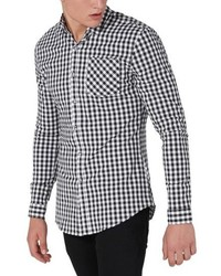 Black Gingham Long Sleeve Shirt