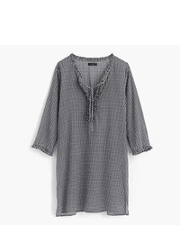 J.Crew Ruffle Tunic In Gingham