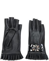 Twin-Set Embellished Fingerless Gloves