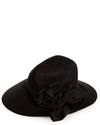 Gucci Asymmetric Fur Felt Wide Brim Hat