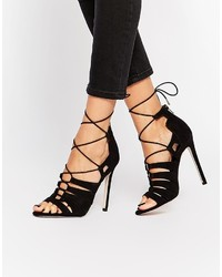 Asos Heartbreak Hotel Lace Up Heeled Sandals