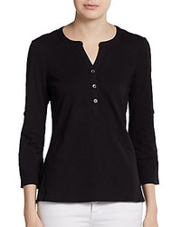 Black Henley Shirt