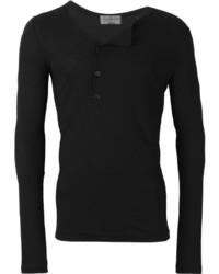 Yohji Yamamoto Asymmetric Henley T Shirt