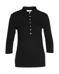 Just Female Field Long Sleeved Top Black