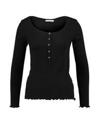 Esprit Frill Long Sleeved Top Black