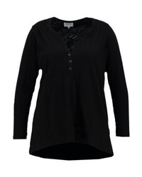 Zizzi Long Sleeved Top Black