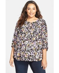 NYDJ Plus Size Henley Top