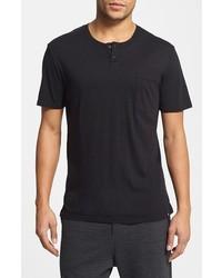 UNCL Short Sleeve Henley Pocket T Shirt Black X Large
