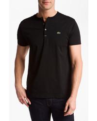 Lacoste Short Sleeve Henley T Shirt Black 5