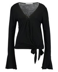 Vila Vimissy Wrap Long Sleeved Top Black