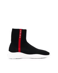 Prada High Top Sock Sneakers