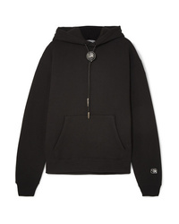 Alexander Wang Embellished Cotton Blend Jersey Hoodie