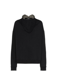 Raf Simons Oversized Front Hooded Cotton Jumper