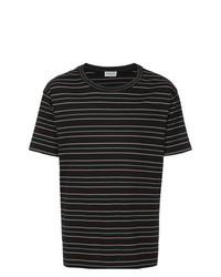 Black Horizontal Striped Crew-neck T-shirt