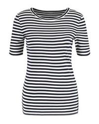 J.Crew Perfect Fit Print T Shirt Navyivory
