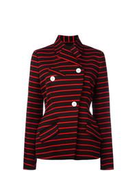 Proenza Schouler Wrap Front Striped Jacket
