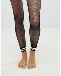 Asos Stripe Cuff Footless Fishnet Tights