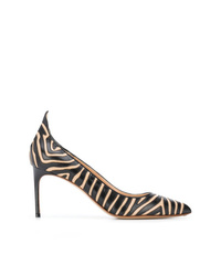 Francesco Russo Striped Pointed Pumps