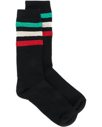Palm Angels Metallic Striped Socks