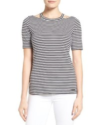 MICHAEL Michael Kors Michl Michl Kors Stripe Detached Neck Tee