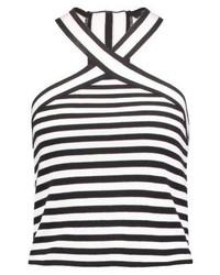 Mavi Striped Vest Black